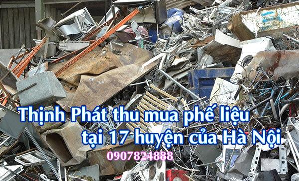 Thịnh Phát thu mua phế liệu tại 17 huyện trên địa bàn thành phố