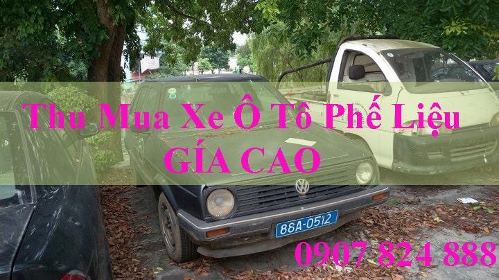 Thu mua xe ô tô phế liệu giá cao