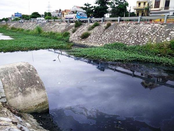 Nguồn nước ô nhiễm từ các khu công nghiệp thải ra môi trường