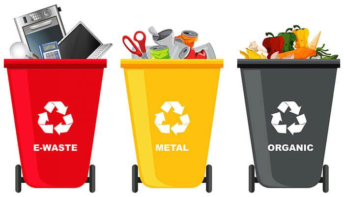 Phân loại rác tái chế và rác không tái chế