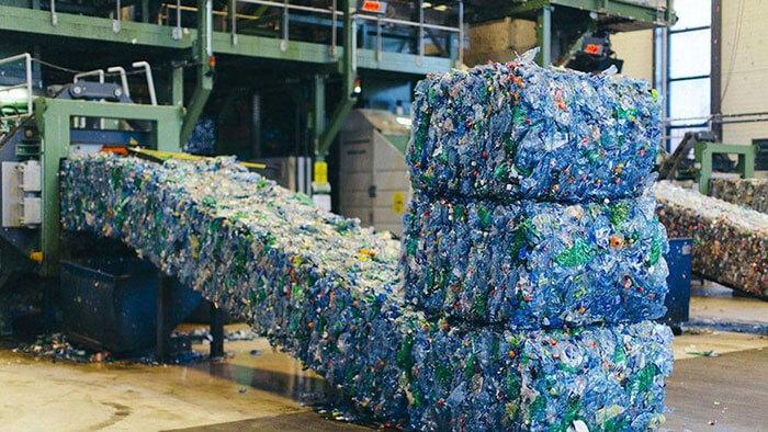 Rác thải được xử lý để chuẩn bị tái chế